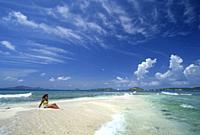 Petit Tabac islet, Tobago Cays, Grenadines islands, Saint Vincent and the Grenadines, Winward Islands, Lesser Antilles, Caribbean Sea.