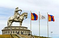 Genghis Khan Equestrian Statue, Chinggis Khaan Statue Complex, Tsonjin Boldog, Mongolia.