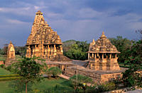Inde du Nord, Etat de Madhya Pradesh, temples de Khajuraho, Patrimoine Mondial de l'UNESCO.