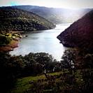 An artificial lake in Parque Nacional Monfrague in Extremadura, Spain