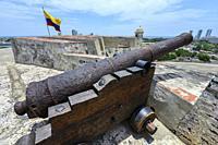 San Felipe Barajas Castle in Cartagena, Colombia.