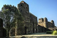 Fasil Ghebbi, UNESCO World Heritage Site in Gondar, Ethiopia.