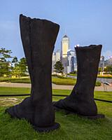 Harbour Arts Sculpture Park, Central district, Hong Kong, China.