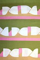 Detail of vintage fabric pattern.