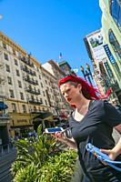 Powell Street around Union Square. San Francisco. California, USA