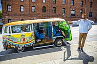 1970 Wolkswagen Busses. Hippie Bus. San Francisco Sightseeing Love Tour . San Francisco. California, USA