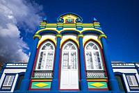 Portugal, Azores, Terceira Island, Praia da Vitoria, Praia da Vitoria Imperio chapel.