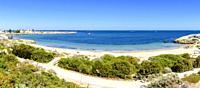 Panorama of Bathers Beach, Fremantle, Western Australia, Australia.