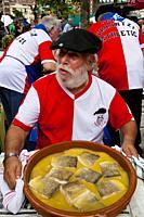 Elaboración de bacalao al pil-pil para el concurso gastronómico de la Aste Nagusia (Semana Grande). Bilbao 2012.