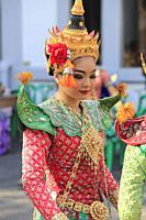 Thailand, Bangkok, thai traditional dancer,.