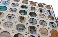 Lebanon: A builiding in Beirut with round windows.