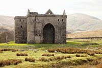 Hermitage Castle, Newcastleton, Roxburghshire, Scottish Borders, Scotland, built in the 14th and 15th centuries, located in the debatable lands betwee...