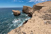 Tajao landscape, volcanic coastline in south Tenerife island, Canary islands, Spain.