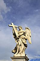 Angel with a Cross, by Ercole Ferrata, Ponte Sant'Angelo, Rome. Italy.