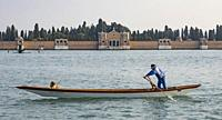 Standup Rowing, Venice, Italy.