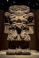 Aztec Room, Statue of Coatlicue - Aztec Goddess, National Museum of Anthropology, Mexico City, Mexico.
