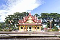 The Royal Pavilion of Hua Hin train station, Hua Hin, Thailand.
