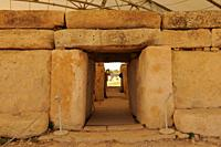 World Heritage Hagar Qim: Malta the found 30 prehistoric temples at 18 different locations.
