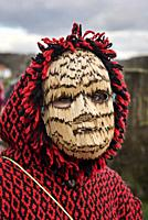 Mask made of matches used during the Winter Solstice Festivities. Tras-os-Montes, Portugal.