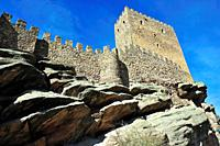 The Castle of Zafra (XIIth century).It appears in the TV serie ´Game of Thrones´. Campillo de Dueñas town, Guadalajara province, Spain