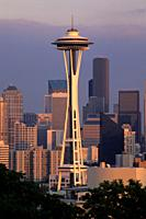 Downtown view with Space Needle, Kerry Park, Seattle, Washington.