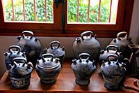 exhibition of ceramics, Ceramicas Ferran, Miravet, Catalonia, Spain