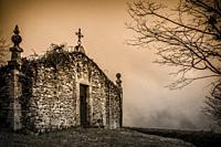 Collegiate Church of Zenarruza, on the North Santiago Road, Biscay, Basque Country, Spain.