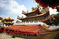 Malaysia, Selangor State, Kuala Lumpur, Thean Hou Temple, one of the largest Chinese temple in South East Asia, decorated with lanterns during Chinese...