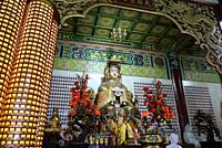 Malaysia, Selangor State, Kuala Lumpur, Thean Hou Temple, one of the largest Chinese temple in South East Asia