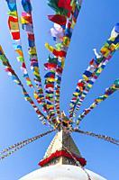 Boudhanath - Bauddhanath Stupa, Kathmandu Valley, Nepal, Asia, Unesco World Heritage Site.