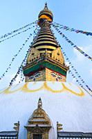 Swayambhunath Stupa, Kathmandu Valley, Nepal, Asia, Unesco World Heritage Site.