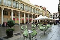 Plaza del Mercado (Market Place). Barbastro, Huesca province, Aragón, Spain.