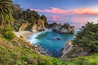 Julia Pfeiffer Burns State Park McWay Falls at Sunset.