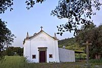 chapel in the countryside near Monsaraz, Reguengos de Monsaraz, Alentejo region, Portugal, southwertern Europe.