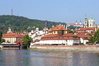Prague - Lesser Town, St. Nicholas Church and Strahov Monastery.