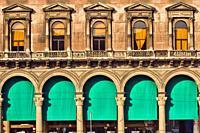 Galleria Vittorio Emanuele II, shopping mall, Piazza del Duomo, Milan, Lombardy, Italy, Europe.