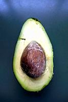 Avocado cut in half.