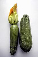 Two Courgettes.