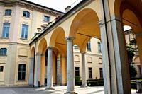 Limbiate, Lombardy, Italy. Villa Pusterla Crivelli Arconati is an eighteenth century villa situated in Mombello, (fraction of Limbiate in the Province...