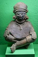 Pre-Hispanic Art Museum Rufino Tamayo, Seated figure, Classic period of Veracruz, 200-700 AD, Oaxaca, Mexico.