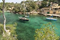 fishing village at Cala Figuera bay, Majorca, Balearic Islands, Spain, .