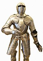 Suit of Armor on White Background.