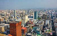 Japan, Hokkaido, Sapporo City panorama.