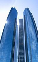 Etihad Towers, Abu Dhabi City, Emirate of Abu Dhabi, Persian Gulf, United Arab Emirates, UAE, The Middle East.