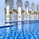 Sheikh Zayed Grand Mosque, Abu Dhabi City, Emirate of Abu Dhabi, Persian Gulf, United Arab Emirates, UAE, The Middle East.