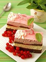 Sponge cake pastries.