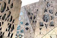 Exterior of new Sheikh Jaber Al-Ahmad Cultural Centre in Kuwait City , Kuwait.