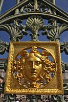 Turin, Italy: detail of the gate of Palazzo Reale