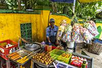 The hawker stall at Masjid Agung Jami´ Sultan Muhammad Tsafiuddin, Sambas, West Kalimantan, Indonesia