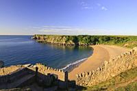 Barafundle Bay Pembroke Pembrokeshire Wales.